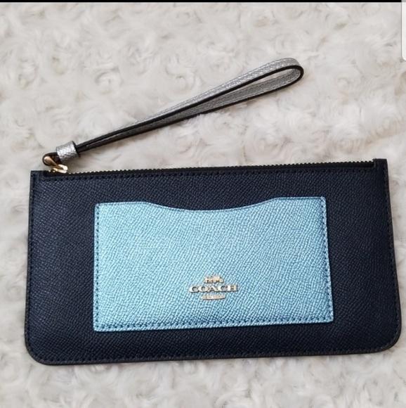 Coach Handbags - Coach Top Zip Colorblock Wallet